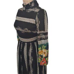 Vintage 70s maxi boho dress